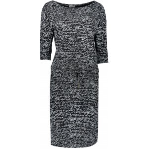 Dámské šaty NUMOCO A13-107 ČERNÁ/BÍLÁ