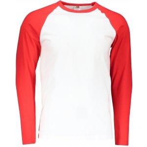 Pánské triko FRUIT OF THE LOOM BASEBALL T WHITE/RED