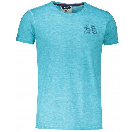 Pánské triko s krátkým rukávem KIXMI JOEL AQUA