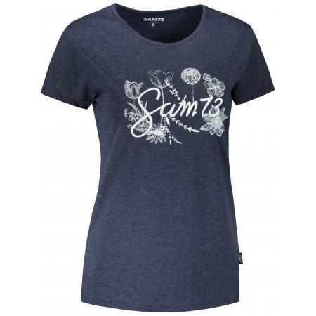 Dámské triko s krátkým rukávem SAM 73 LTSR618 TMAVĚ MODRÁ