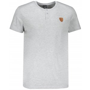 Pánské triko s krátkým rukávem SAM 73 MT 763 SVĚTLE ŠEDÁ