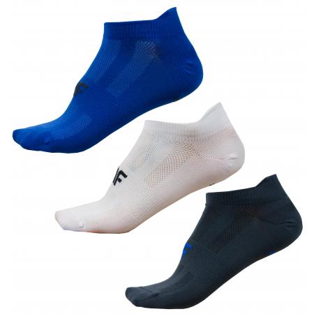 Pánské ponožky 4F NOSD4-SOM213 WHITE/COBALT/DEEP BLACK