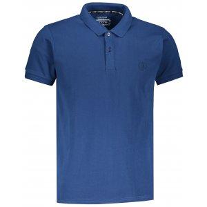 Pánské triko s límečkem OMBRE AS1048 NAVY