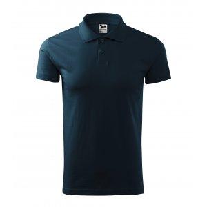 Pánské triko s límečkem MALFINI SINGLE J. 202 NÁMOŘNÍ MODRÁ