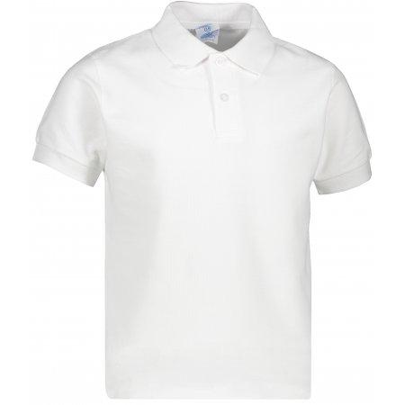 Dětské triko s límečkem JHK KID POLO WHITE