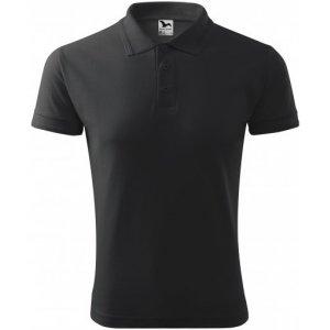 Pánské triko s límečkem MALFINI PIQUE POLO 203 ANTRACITOVÝ MELÍR