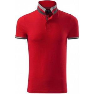 Pánské triko s límečkem MALFINI PREMIUM COLLAR UP 256 FORMULA RED