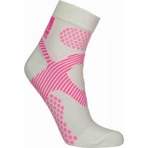 Sportovní kompresní ponožky NORDBLANC NBSX16377 BÍLÁ