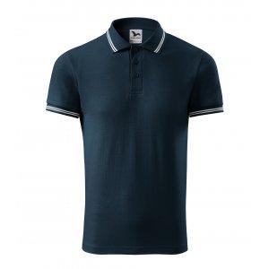 Pánské triko s límečkem MALFINI URBAN 219 NÁMOŘNÍ MODRÁ