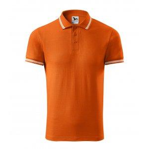 Pánské triko s límečkem MALFINI URBAN 219 ORANŽOVÁ