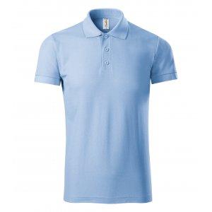 Pánské triko s límečkem PICCOLIO JOY P21 NEBESKY MODRÁ