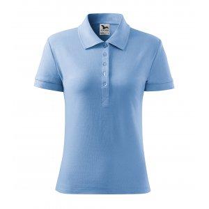 Dámské triko s límečkem MALFINI HEAVY 216 NEBESKY MODRÁ