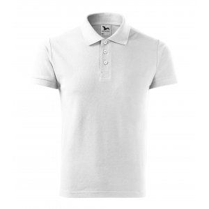 Pánské triko s límečkem MALFINI COTTON 212 BÍLÁ