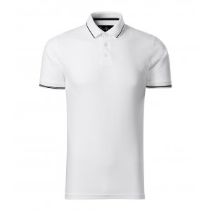 Pánské triko s límečkem MALFINI PREMIUM PERFECTION PLAIN 251 BÍLÁ