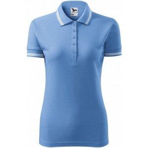 Dámské triko s límečkem MALFINI URBAN 220 NEBESKY MODRÁ