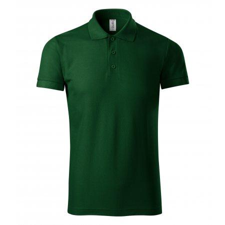 Pánské triko s límečkem PICCOLIO JOY P21 LAHVOVĚ ZELENÁ