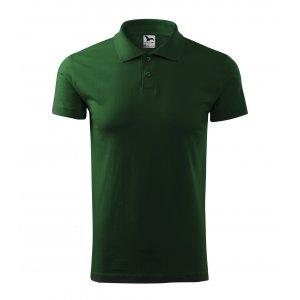 Pánské triko s límečkem MALFINI SINGLE J. 202 LAHVOVĚ ZELENÁ