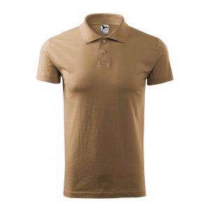 Pánské triko s límečkem MALFINI SINGLE J. 202 PÍSKOVÁ