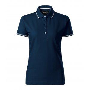 Dámské triko s límečkem MALFINI PREMIUM PERFECTION PLAIN 253 NÁMOŘNÍ MODRÁ