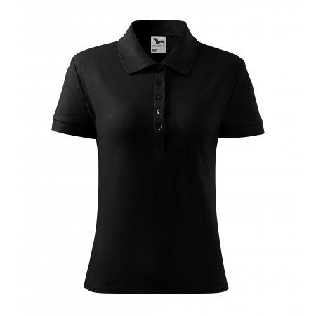 Dámské triko s límečkem MALFINI COTTON 213 ČERNÁ