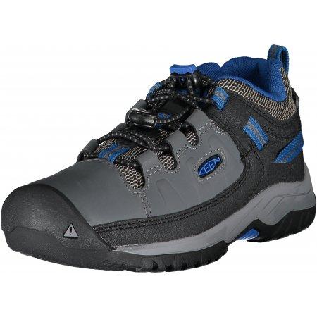 Dětské boty KEEN TARGHEE LOW WP Y STEEL GREY/BALEINE BLUE