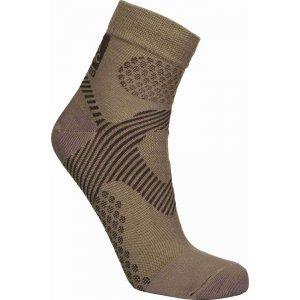 Sportovní kompresní ponožky NORDBLANC NBSX16377 PRACHOVĚ HNĚDÁ