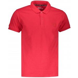 Pánské triko s límečkem OMBRE AS1048 RED