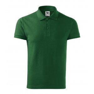 Pánské triko s límečkem MALFINI HEAVY 215 LAHVOVĚ ZELENÁ
