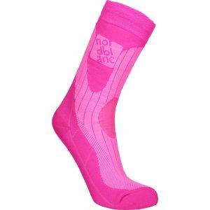 Sportovní kompresní ponožky NORDBLANC NBSX16378 NEONOVĚ RŮŽOVÁ