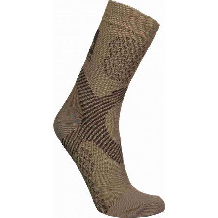 Sportovní ponožky NORDBLANC NBSX16376 PRACHOVĚ HNĚDÁ