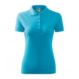 Dámské triko s límečkem MALFINI PIQUE POLO 210 TYRKYSOVÁ