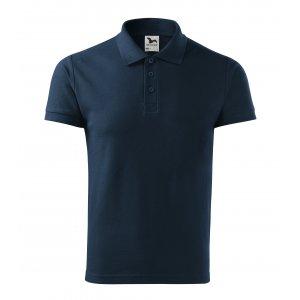 Pánské triko s límečkem MALFINI COTTON 212 NÁMOŘNÍ MODRÁ