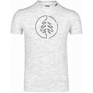 Pánské triko NORDBLANC CIRCLET NBSMT7257 SVĚTLE ŠEDÝ MELÍR