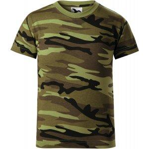 Dětské triko MALFINI CAMOUFLAGE 149 CAMOUFLAGE GREEN