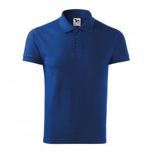 Pánské triko s límečkem MALFINI HEAVY 215 KRÁLOVSKÁ MODRÁ