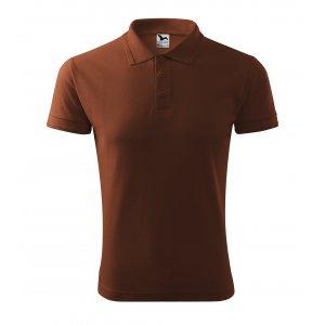 Pánské triko s límečkem MALFINI PIQUE POLO 203 ČOKOLÁDOVÁ