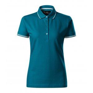 Dámské triko s límečkem MALFINI PREMIUM PERFECTION PLAIN 253 PETROLEJOVÁ