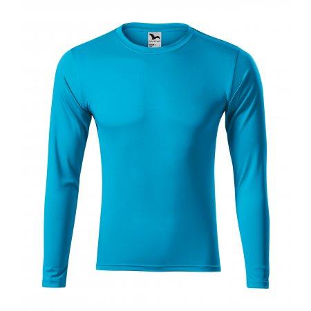 Pánské funkční triko s dlouhým rukávem MALFINI PRIDE 168 TYRKYSOVÁ
