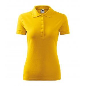 Dámské triko s límečkem MALFINI PIQUE POLO 210 ŽLUTÁ