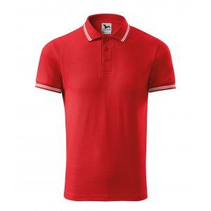 Pánské triko s límečkem MALFINI URBAN 219 ČERVENÁ