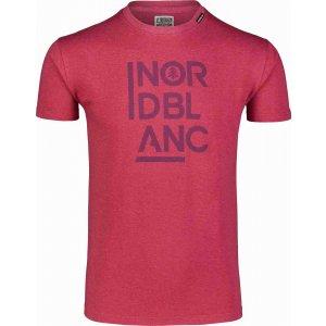 Pánské triko NORDBLANC OBEDIENT NBSMT7258 HLUBOCE ČERVENÁ