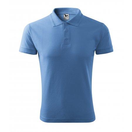 Pánské triko s límečkem MALFINI PIQUE POLO 203 NEBESKY MODRÁ