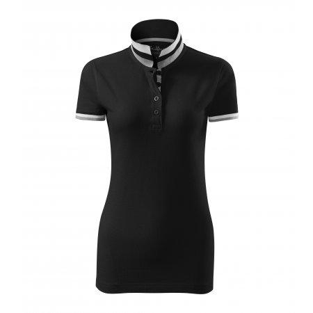 Dámské triko s límečkem MALFINI PREMIUM COLLAR UP 257 ČERNÁ