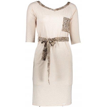 Dámské šaty NUMOCO A278-2 BÉŽOVÁ