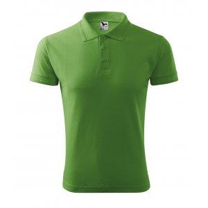Pánské triko s límečkem MALFINI PIQUE POLO 203 TRÁVOVĚ ZELENÁ