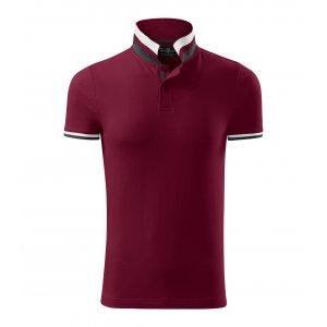 Pánské triko s límečkem MALFINI PREMIUM COLLAR UP 256 GARNET