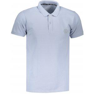 Pánské triko s límečkem OMBRE AS1048 LIGHT BLUE