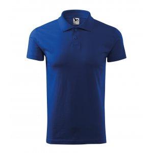 Pánské triko s límečkem MALFINI SINGLE J. 202 KRÁLOVSKÁ MODRÁ