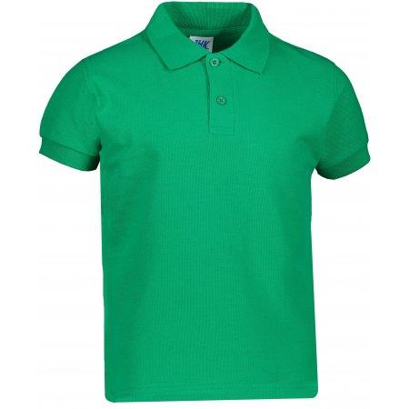Dětské triko s límečkem JHK KID POLO KELLY GREEN