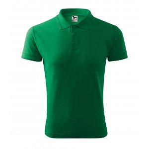Pánské triko s límečkem MALFINI PIQUE POLO 203 STŘEDNĚ ZELENÁ